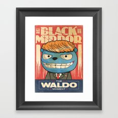 The Waldo Moment (Black Mirror) Framed Art Print