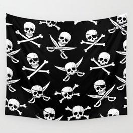 Pirateskulls Wall Tapestry