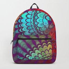 Mandala Flower Wheel Backpack