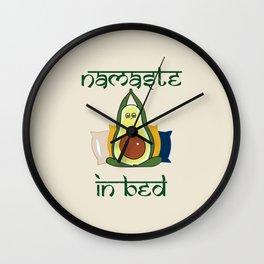 Avocado Namaste In Bed Wall Clock