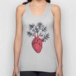 Blooming heart Unisex Tank Top