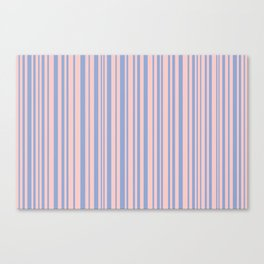 Pantone Rose Quartz over Serenity Canvas Print