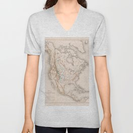 William T. Hornaday - Extermination of the American Bison (1889) Unisex V-Neck