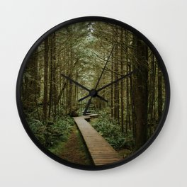 Temperate Rainforest Trail Wall Clock