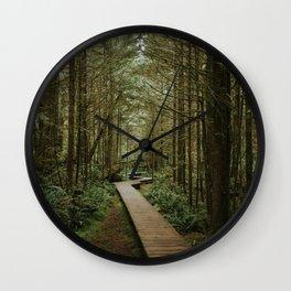 Temperate Rainforest Trail Wall Clock