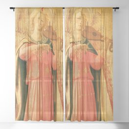 """Fra Angelico (Guido di Pietro) """"Music-making angel, Detail from the Linaioli Tabernacle"""" 4. Sheer Curtain"""