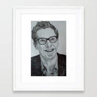 benedict cumberbatch Framed Art Prints featuring Benedict Cumberbatch by Jess5_11