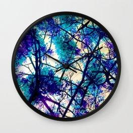 Blue Fantasy nature by Lika Ramati Wall Clock