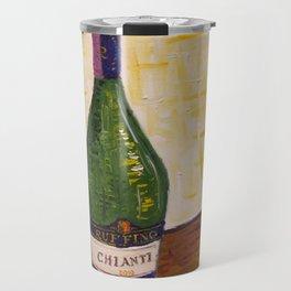 Still Life with Chianti Bottle Travel Mug