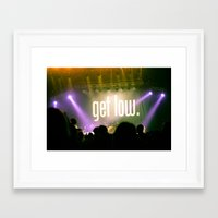 time low Framed Art Prints featuring All Time Low by Melissa Wahler