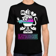 Ratburger Mens Fitted Tee Black SMALL