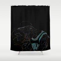 work hard Shower Curtains featuring HARD WORK by Asta Dagmar