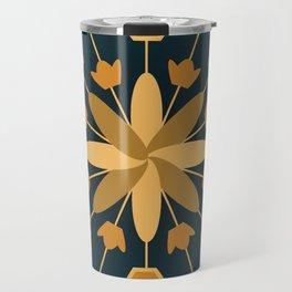 Blue Flower Explosion Travel Mug