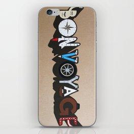 Bon Voyage iPhone Skin