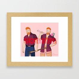 what's the mood ?? Framed Art Print