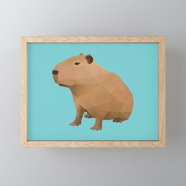 Capybara Polygon Art Framed Mini Art Print