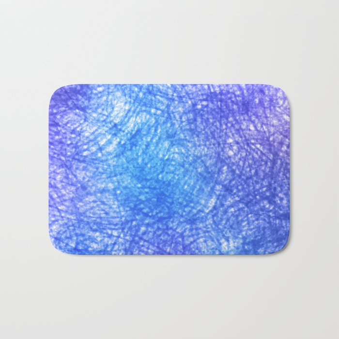Minimalist Blue Watercolor Design Bath Mat