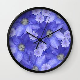 Purple/Lilac Floral Wall Clock