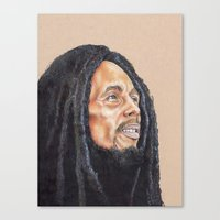 marley Canvas Prints featuring Marley by E. L. Briscoe Art