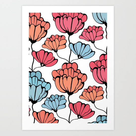 Autumn Floral Art Print