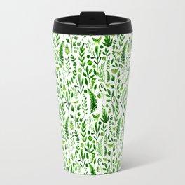 Flora and Fauna seamless pattern Travel Mug