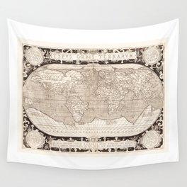 Typvs Orbis Terrarvm (World Map) by Abraham Ortelius (1628) Wall Tapestry