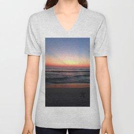 Radiant Sunset I Unisex V-Neck