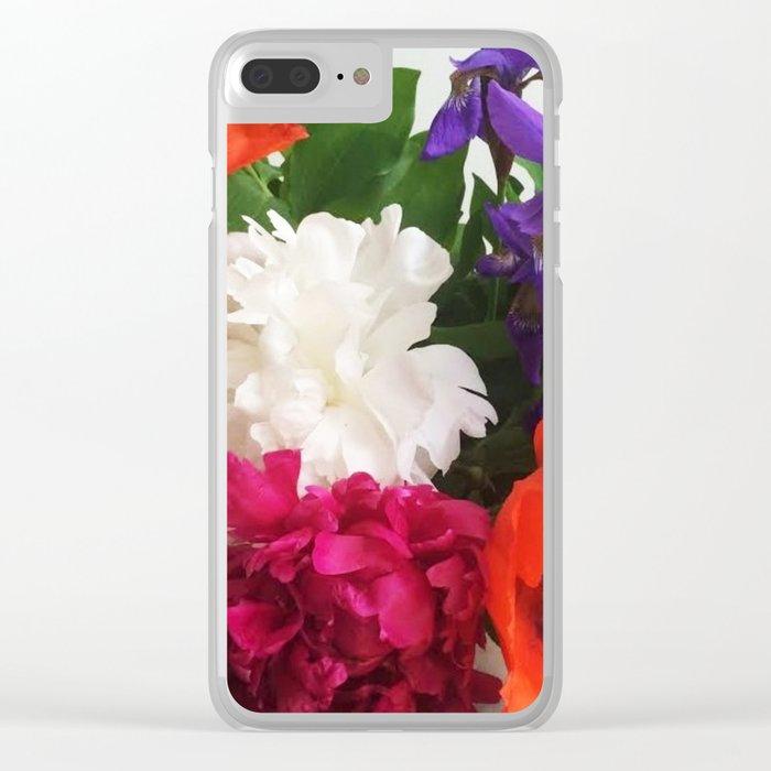 A Garden Bouquet Clear iPhone Case