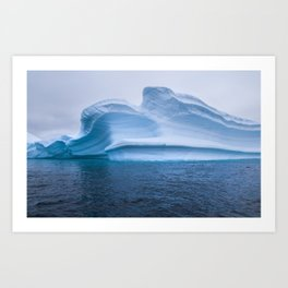 Visions of Blue Art Print