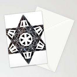 Metatron's Cube Time Wheel ~ Starry Night Stationery Cards