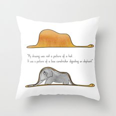 The Little Prince, a hat or a boa constrictor? Throw Pillow