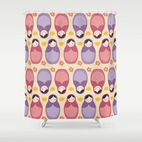 russian Shower Curtains featuring Russian Dolls by ItsJessica