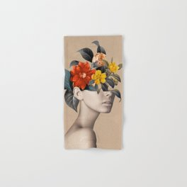 woman with flowers 8 Hand & Bath Towel