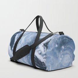 Frozen Blue Water Duffle Bag