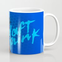 daft punk Mugs featuring Daft Punk by Alli Vanes