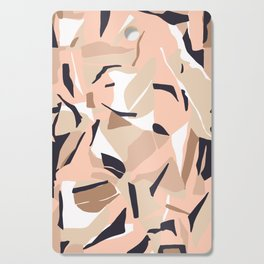 Terrazzo abstract shapes 07 Cutting Board