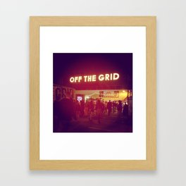 Off the Grid Framed Art Print