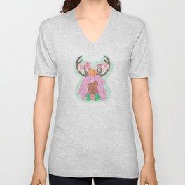 Deer Girl Unisex V-Neck