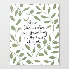Psalm 52 Canvas Print