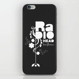 Radiohead song - Last flowers illustration white iPhone Skin