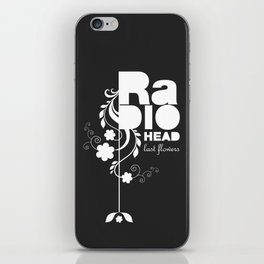Radiohead song - Last flowers illustration white iPhone Skin