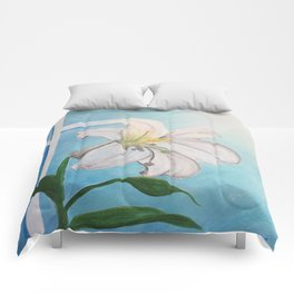 Easter Lilly Cross Comforters
