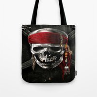 pirate Tote Bags featuring PIRATE by Acus