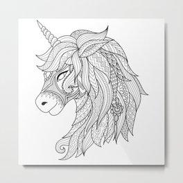 Decorative Unicorn Metal Print
