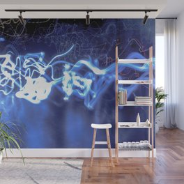 Electric Fuse in Blue Wall Mural
