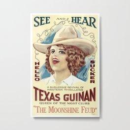 Vintage poster - The Moonshine Feud Metal Print