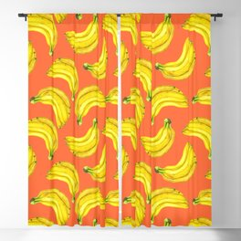 Bananas watercolor Blackout Curtain