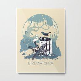 Birdwatcher (blues) Metal Print