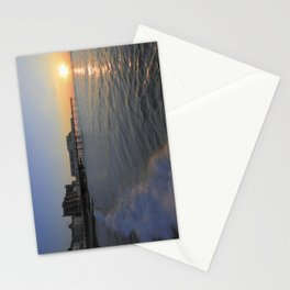 Setting Sun over Aberystwyth Stationery Cards