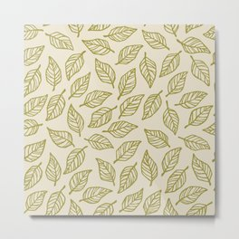 Light Leaf Pattern - Green Metal Print